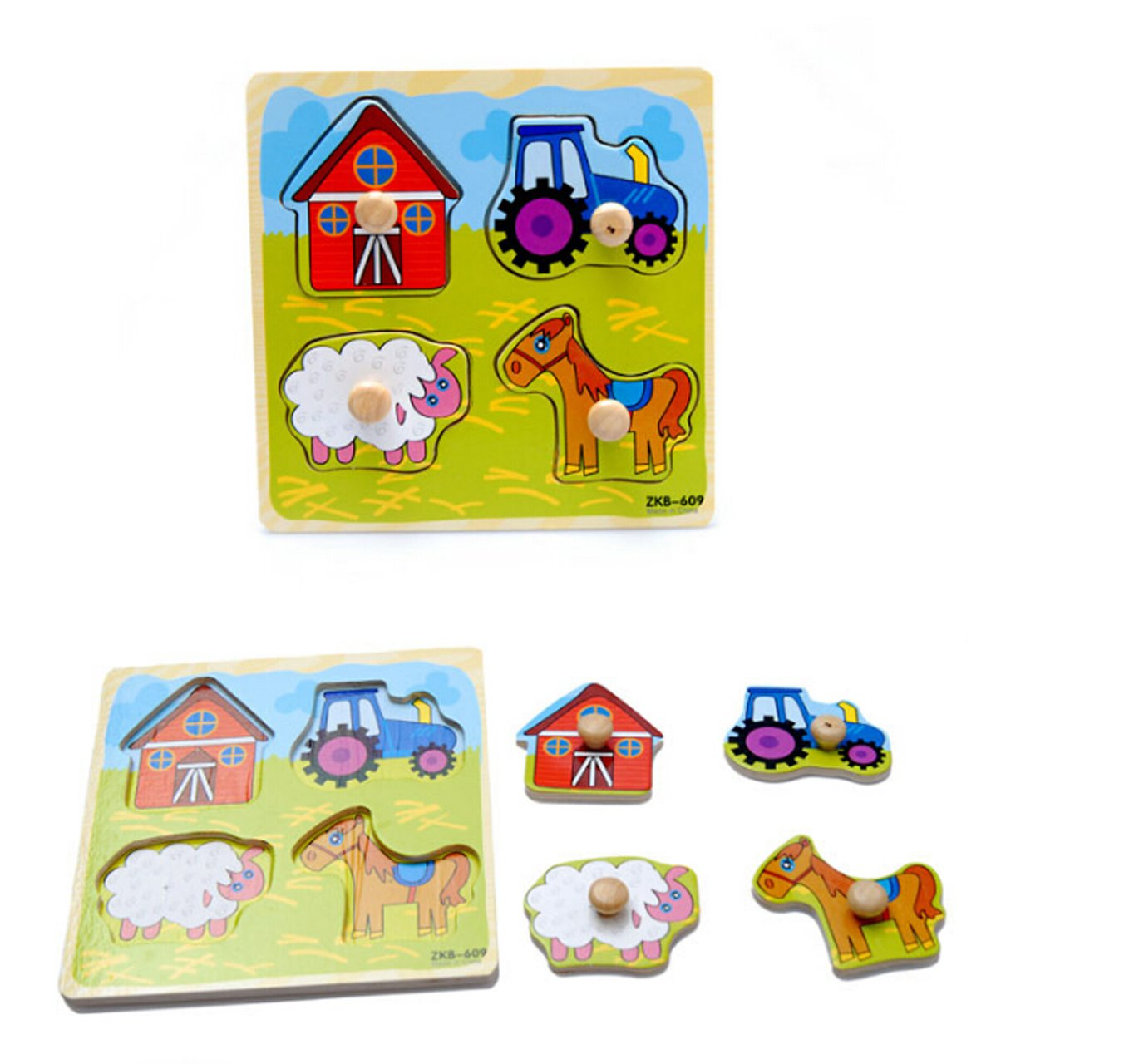 Gorgeous Toddler Baby Intelligence Development Wooden Colorful Brick Puzzle Toy