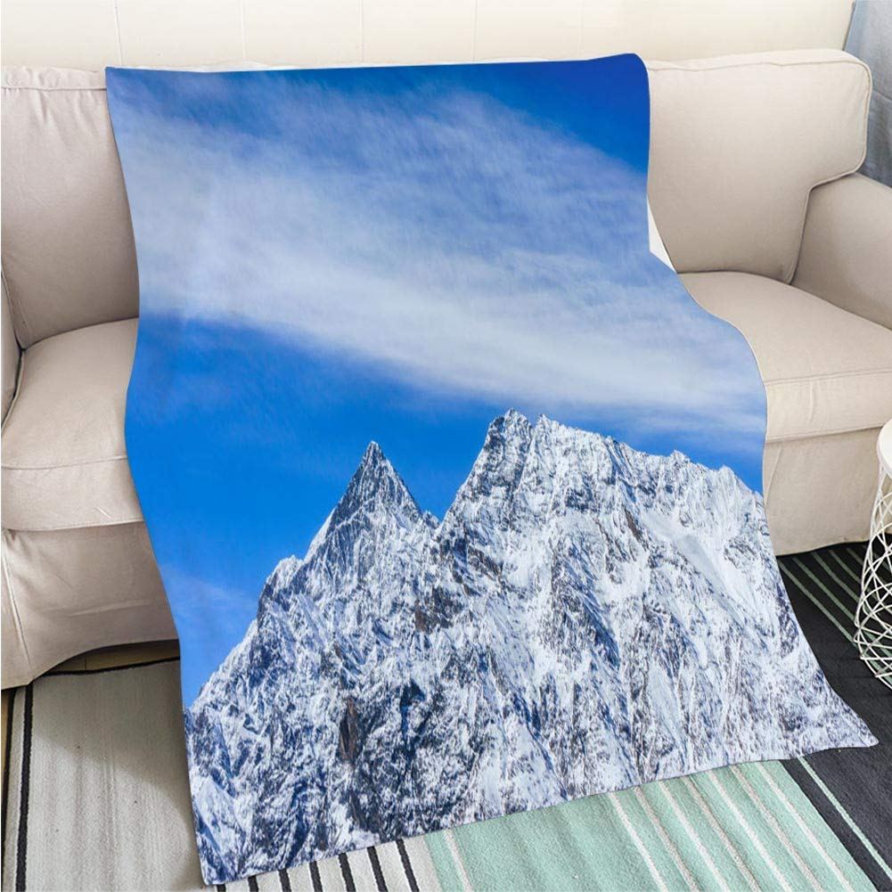 color10 47 x 80in Creative Flannel Printed Blanket for Warm Bedroom The Scenic View from The Summit of Te MATA Peak Hawkes Bay Region New Zealand Perfect for Couch Sofa or Bed Cool Quilt