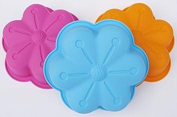 3 x de silicona molde para horno con forma de moda para niños de moldes de flan