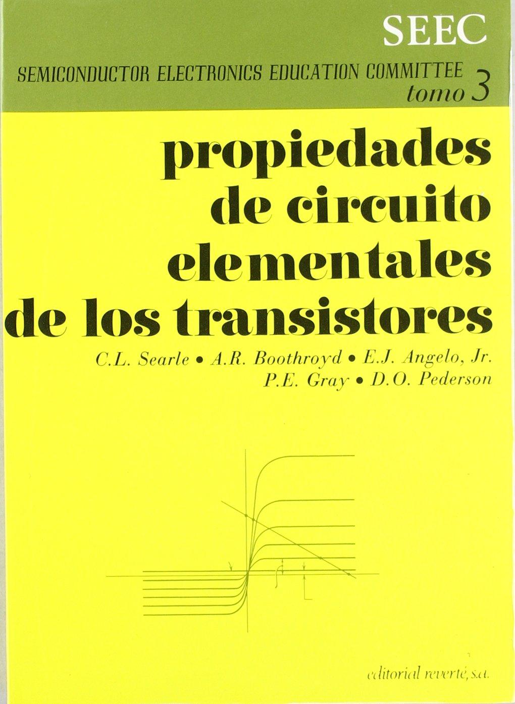 Propiedades De Circuito Elementales De Los Transistores. PRECIO EN DOLARES.: S.E.E.C.: 9788429134438: Amazon.com: Books