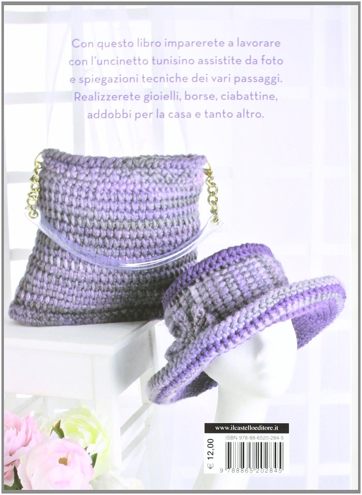 Amazonit Uncinetto Tunisino Ediz Illustrata Donatella Ciotti