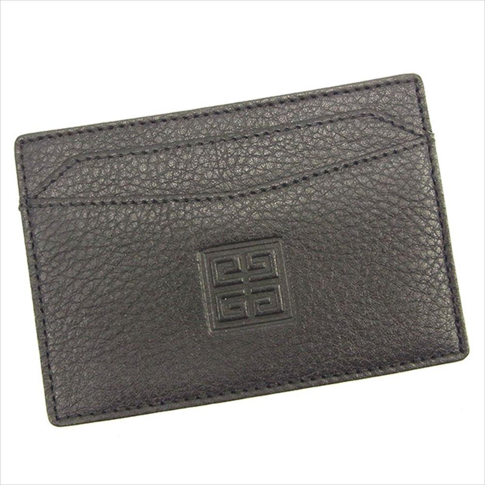 (ジバンシィ) Givenchy カードケース パスケース ブラック 型押 レディース 中古 T660   B0772PB618
