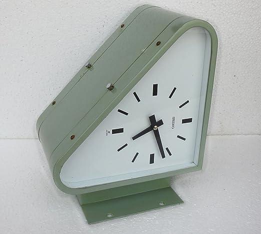 Vintage Marine Ship Wall Clock Citizen Blue Maritime Original Made in Japan