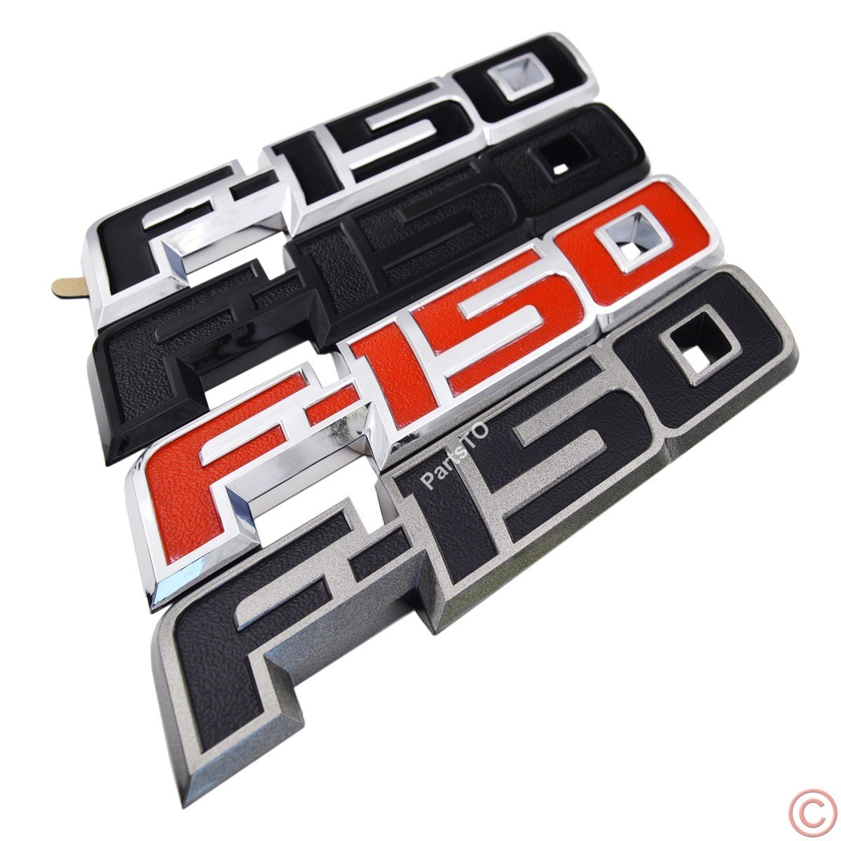 PartsTo F-150 Tailgate Emblem Name Plate for Ford F150 2009-2014 Parsto