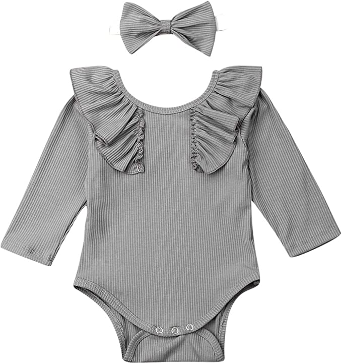Toddler Baby Girls Lace One Piece Romper Fineser Newborn Infant Bow Backless Casual Bodysuit Jumpsuit Kids Clothes Outfits
