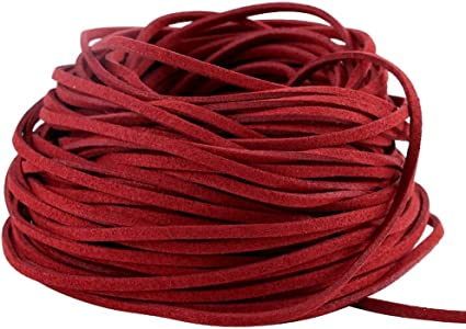 metres Red  leather cord lace 2 mm round sold in lengths of 2,3,4,5