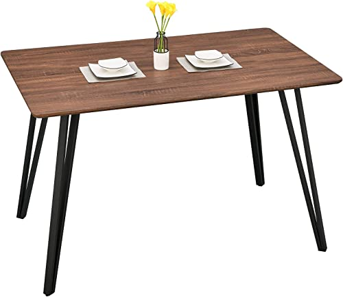 GreenForest Dining Table 47inch Farmhouse Kitchen Room Dinner Table Modern Industrial Wooden Leisure Rectangle Coffee Table
