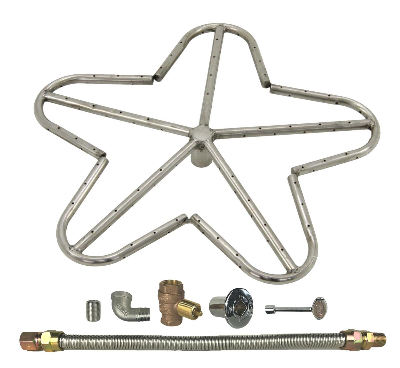 Spotix HPC Penta Fire Pit Burner Kit (FPS-PENTA18KIT-NG-MSCB), 18-Inch Burner, Match Light, Natural Gas by Spotix