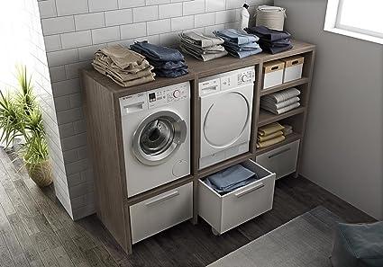 Stunning mobile lavatrice asciugatrice ideas for Mobile porta asciugatrice