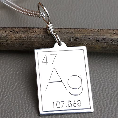 Amazon atomic symbol for silver pendant periodic table atomic symbol for silver pendant periodic table necklace science jewelry by nicholas and felice urtaz Image collections