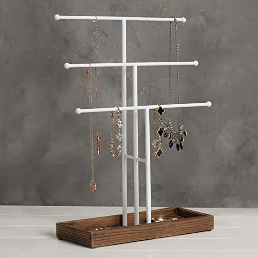 3-TIER METAL T-STAND JEWELRY DISPLAY