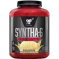 BSN SYNTHA-6 Edge Protein Powder, with Hydrolyzed Whey, Micellar Casein, Milk Protein Isolate, Low Sugar, 24g Protein, Vanilla Milkshake, 48 Servings