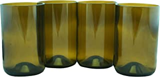 product image for Tumblers Drinking Glasses Made From Recycled Wine Bottles 12 Oz - set of 4 (Topaz, 12 Oz)