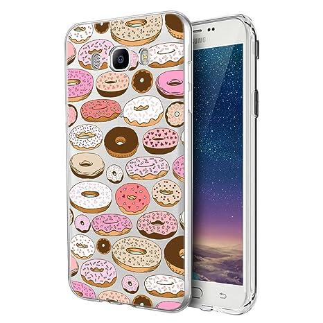 Eouine Funda Samsung Galaxy J7 2016, Cárcasa Silicona 3D Transparente con Dibujos Diseño Suave Gel TPU [Antigolpes] de Protector Bumper Case Cover ...