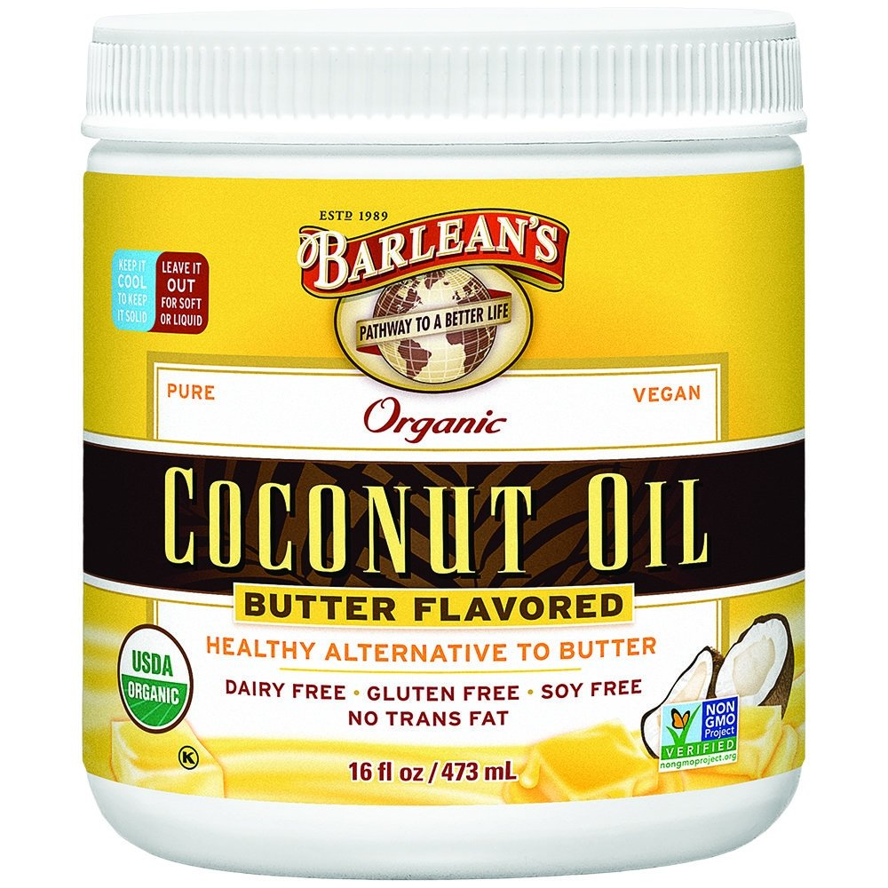 Butter Flavored Coconut Oil 16 oz (Pack of 2)