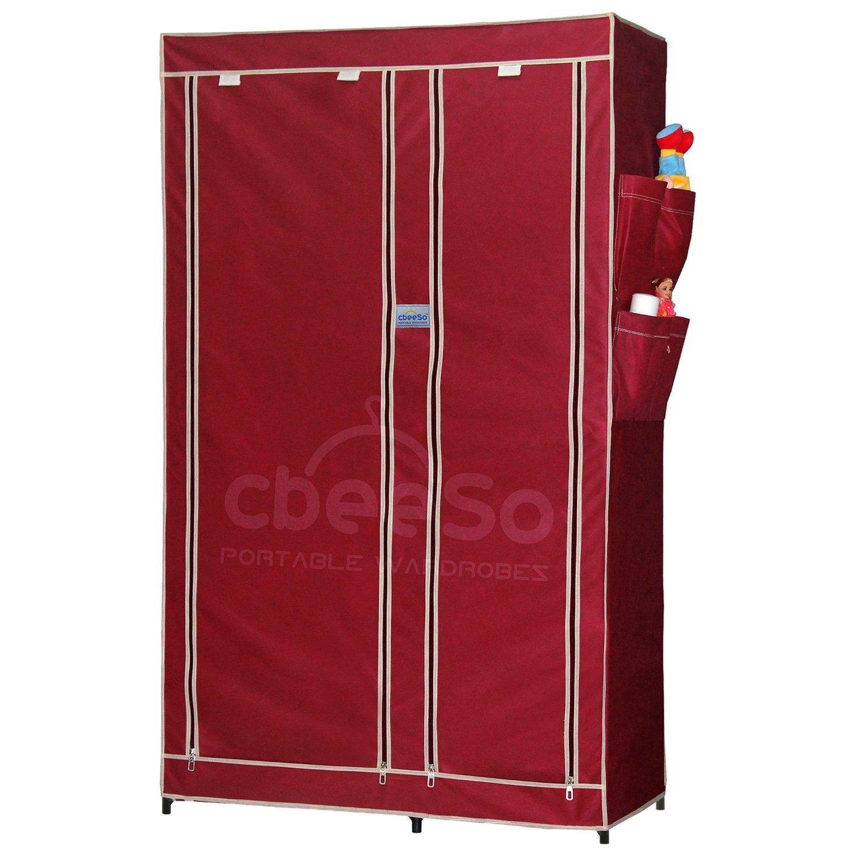 CbeeSo Portable Metal Frame Wardrobe Closet CB260MR Amazonin