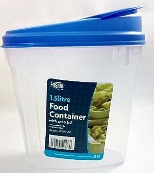 1.5L tamaño grande caja de almacenamiento de dispensador de cereales alimentos recipiente con cierre de tapa de cocina para pasta y arroz: Amazon.es: Hogar