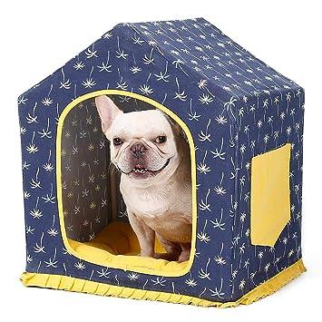 L Casa de Mascotas Gato Cama de Perro, extraíble Lavable Lona Interior Mascota Ropa de Cama Tienda de Dormir Cama cojín Nido: Amazon.es: Productos para ...