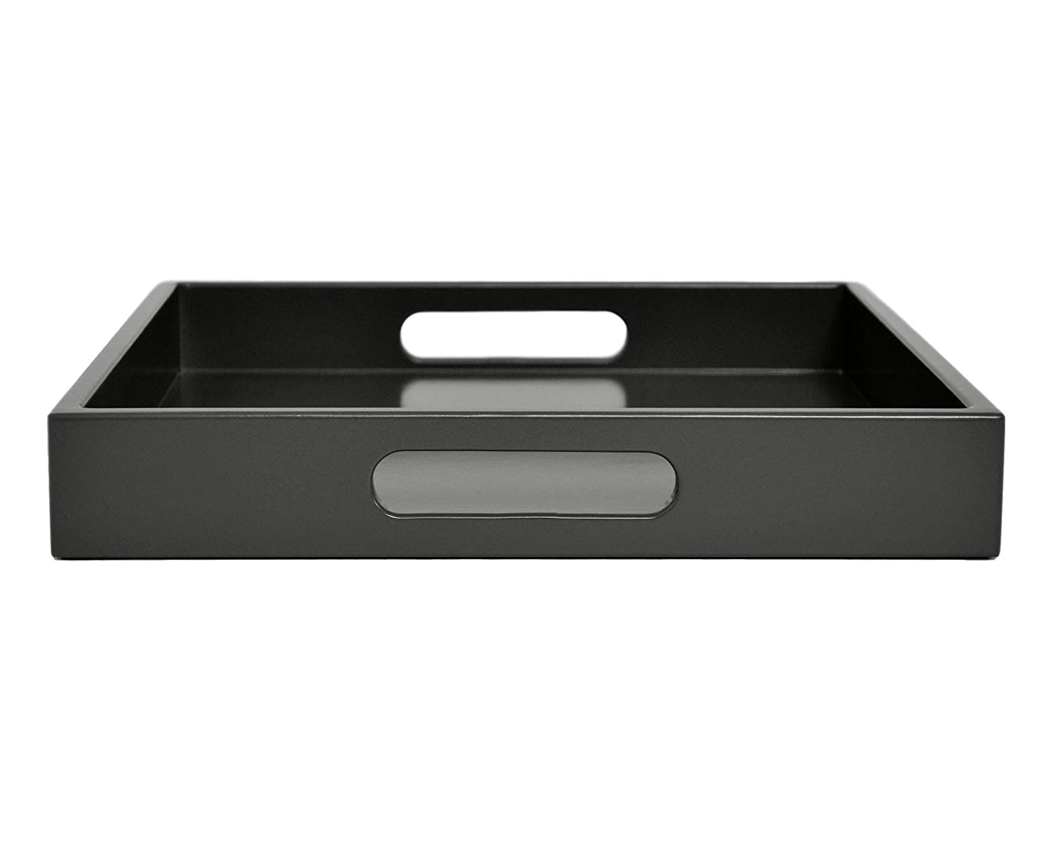 Dark Gray Tray with Handles, Many Sizes