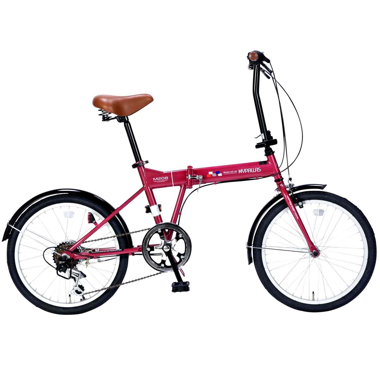 My Pallas(マイパラス) 折畳自転車20インチシマノ6段ギア M-208 B076HJ6R64 ルージュ ルージュ
