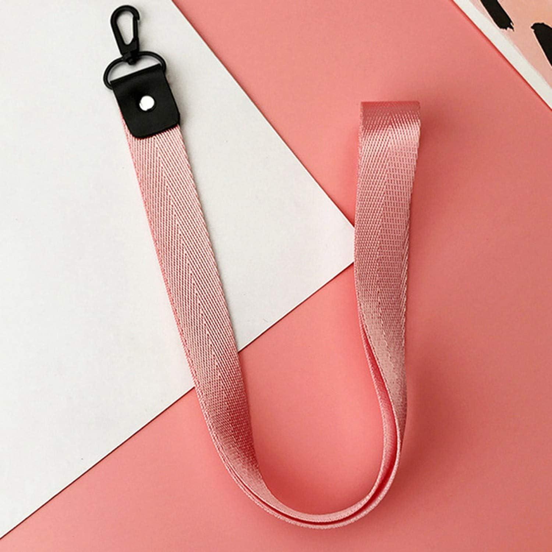 Solid Color Cute Lanyard Neck Strap for Keys Id Card Mobile Phone Straps for USB Badge Holder DIY Hang Rope,Bk-1