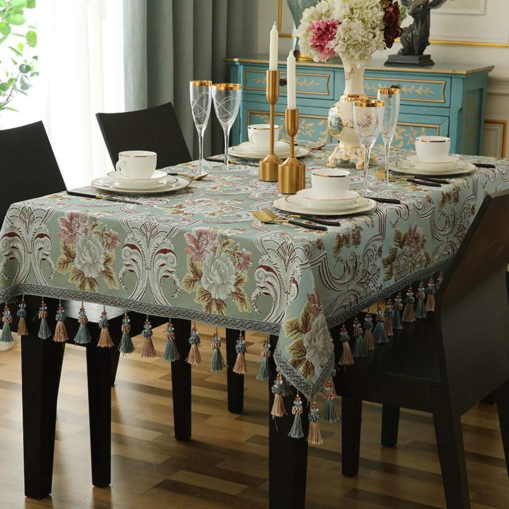 RFQL テーブルクロス、テーブルカバー 正方形の長方形のテーブルクロス、ヨーロッパの現代テーブルクロスの家、布のテーブルカバー、3色 (色 : B, サイズ さいず : 140*240cm) 140*240cm B B07S52YZ1Z