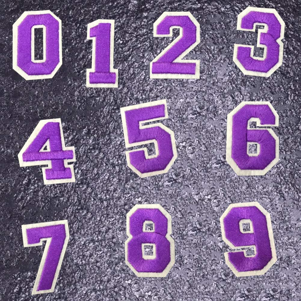 """NUMBERS-Golden Yellow Number /""""8/"""" 1 7//8/"""" Iron On Embroidered Applique//Numbers"""