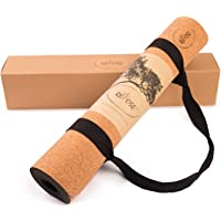 "Repose Eco-friendly yoga mat, Organic Cork & Natural Rubber Mat for Earth and Health - 72"" long 24"" wide 4mm Thick, Non-Toxic, For Hot Yoga, Pilates and Exercise Yoga mat strap included"