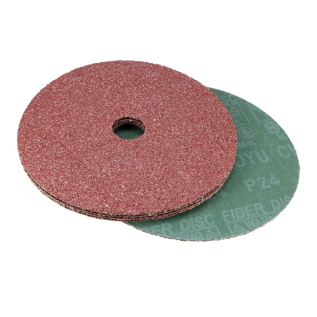 5 Pack uxcell 7-Inch x 7//8-Inch Aluminum Oxide Resin Fiber Discs Center Hole 120 Grit Sanding Grinding Discs