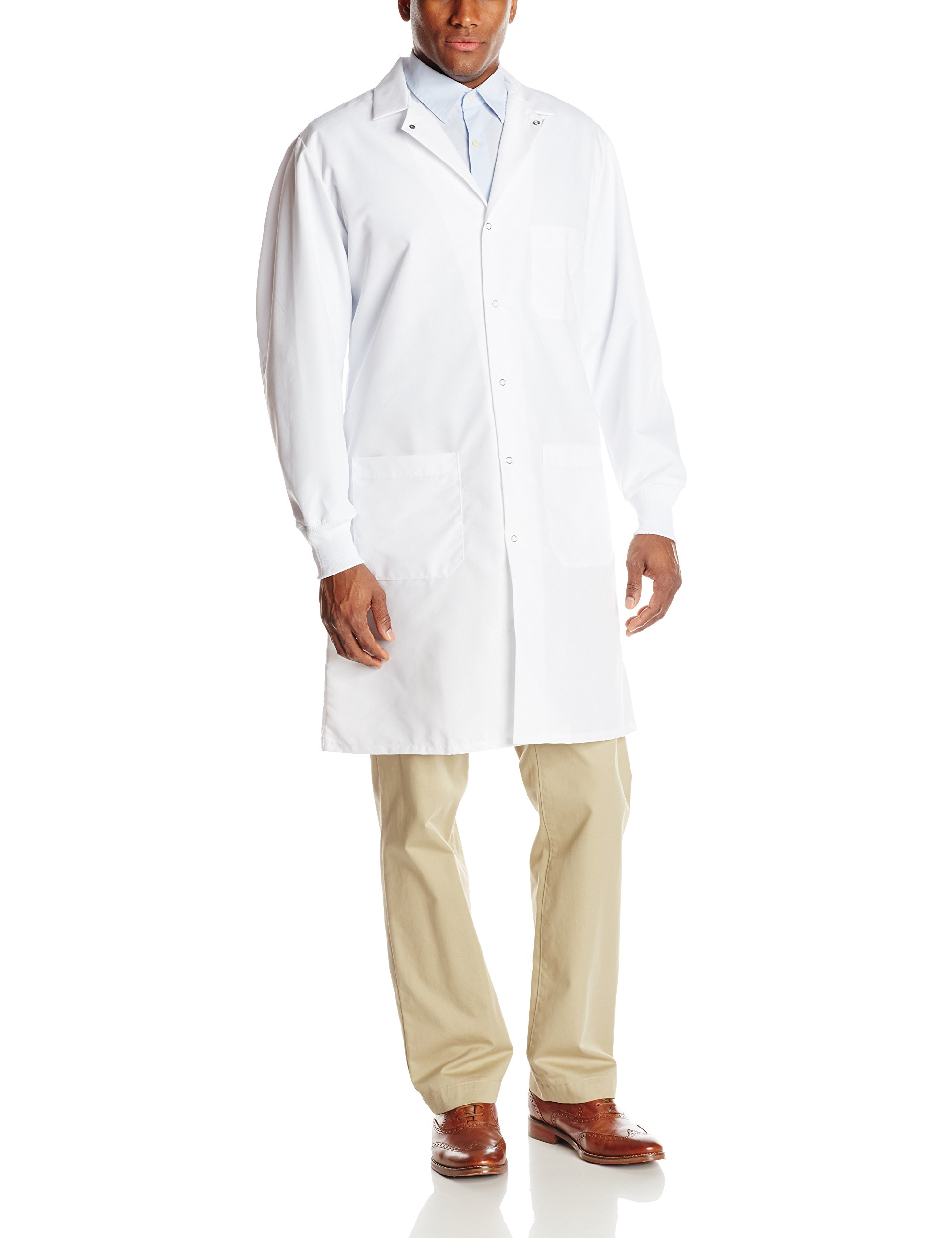Red Kap Unisex Specialized Cuffed Lab Coat, White, X-Small
