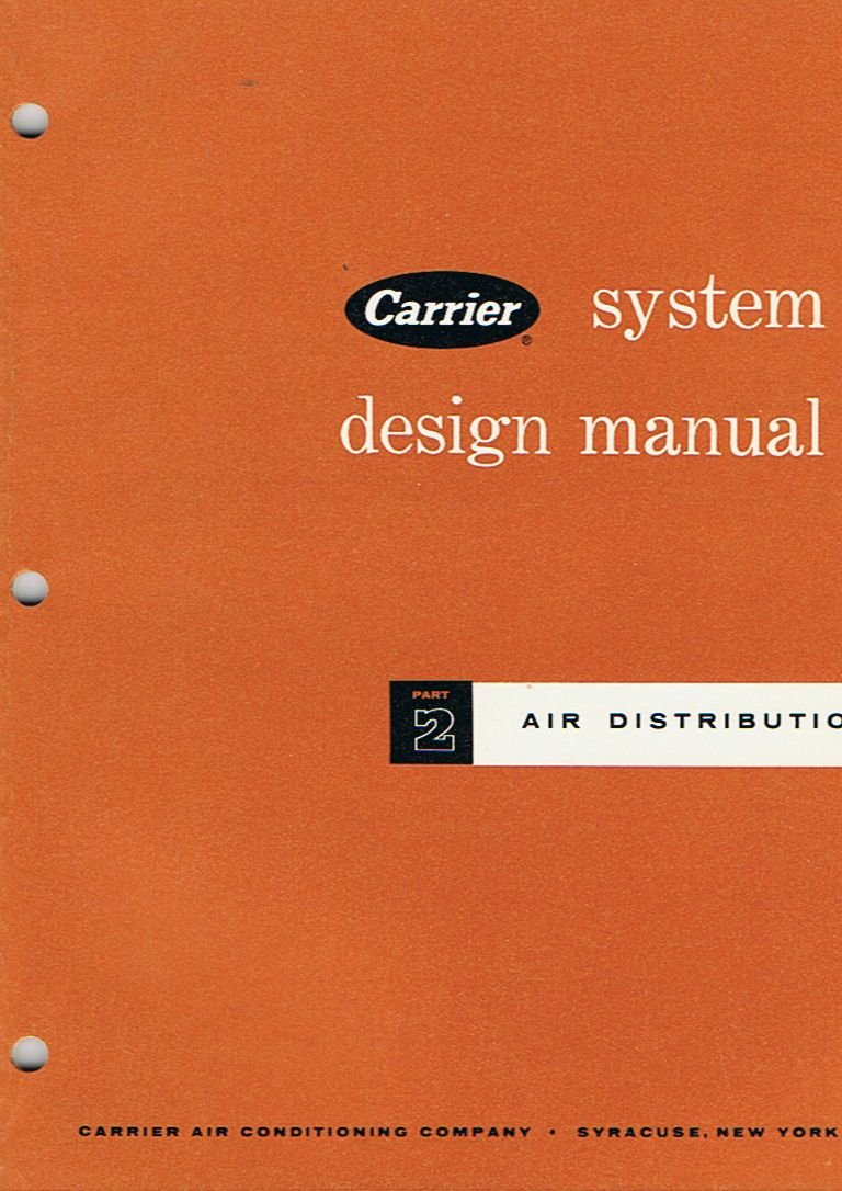 Air Distribution: Part 2 (Carrier System Design Manual): Carrier Air  Conditioning Company: Amazon.com: Books
