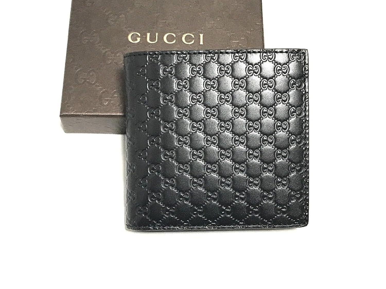 (グッチ) GUCCI 2つ折り財布 150413 BMJ1N 1000 新品 ブラック マイクログッチシマ [並行輸入品] B0713NP662