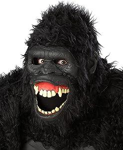 California Costumes Goin Ape Ani-Motion Mask  sc 1 st  Amazon.com & Amazon.com: California Costumes Menu0027s Plus-Size Full Gorilla Suit ...