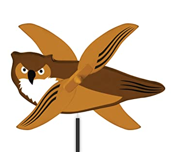 Amazon windnsun whirlygig outdoor animated decor owl toys windnsun whirlygig outdoor animated decor owl voltagebd Choice Image