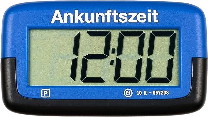 Ps1800 Park Micro Vollautomatische Parkscheibe Mit Zulassung I Digitale Parkuhr Mikro Blau Mit Batterie U Montage Zubehör Auto