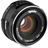 Opteka 50mm f/2.0 HD MC Manual Focus Prime Lens for Canon EF-M Mount APS-C Digital Cameras