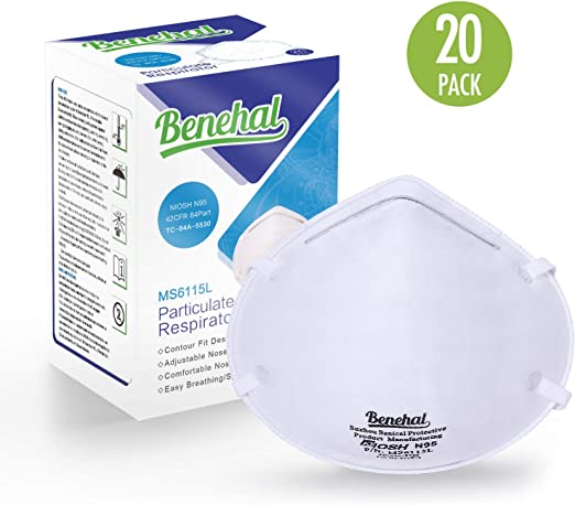 Dust Masks Particulate Disposable Niosh-certified Benehal N95