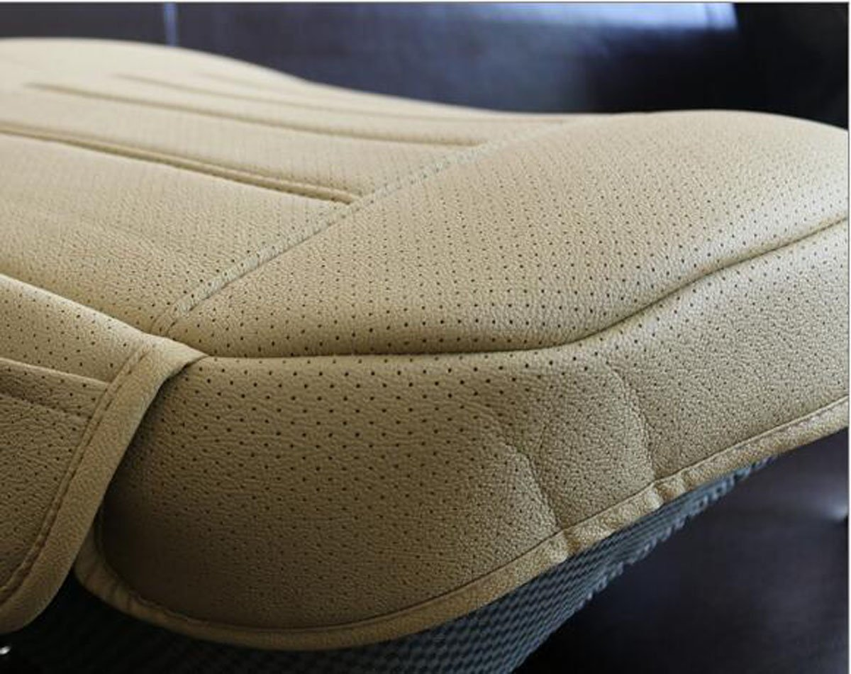 Beige-A Width 20.8/×deep 21/×Thick 0.35 inch PU Leather auto seat Cover car seat Cover for Four-Door Sedan /& SUV Driver seat,1pcs EDEALYN