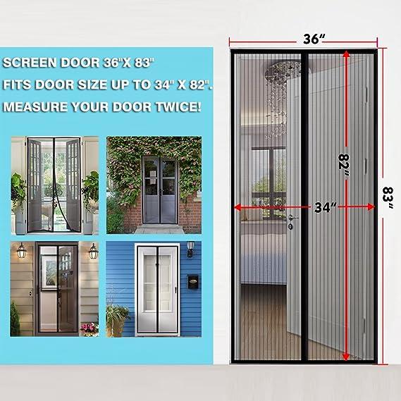 Magnético Protector de puerta – manos libres de Malla Cortina con ...