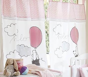 Parure de lit bébé Rose Motif Winnie l\'ourson Play 2 rideaux: Amazon ...
