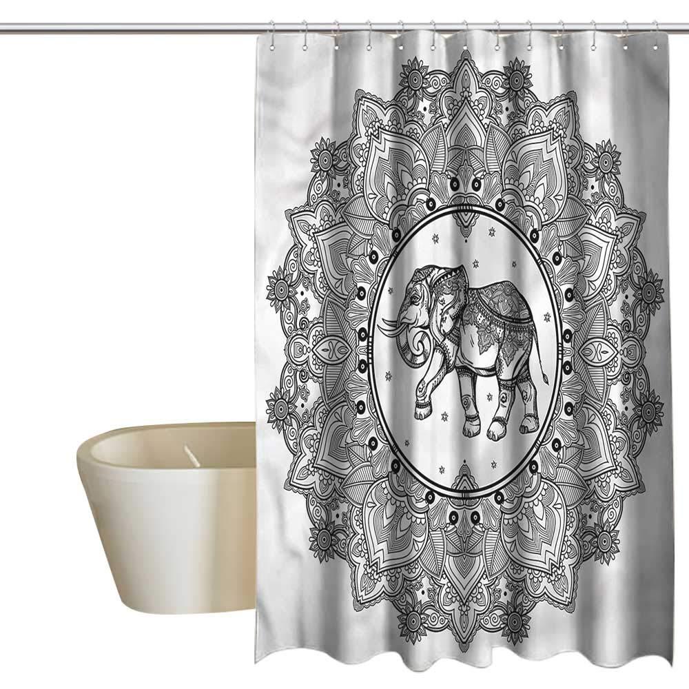 Denruny Shower Curtains for Bathroom Shabby Chic Mandala,Digital Paisley Mandala,W72 x L72,Shower Curtain for Women