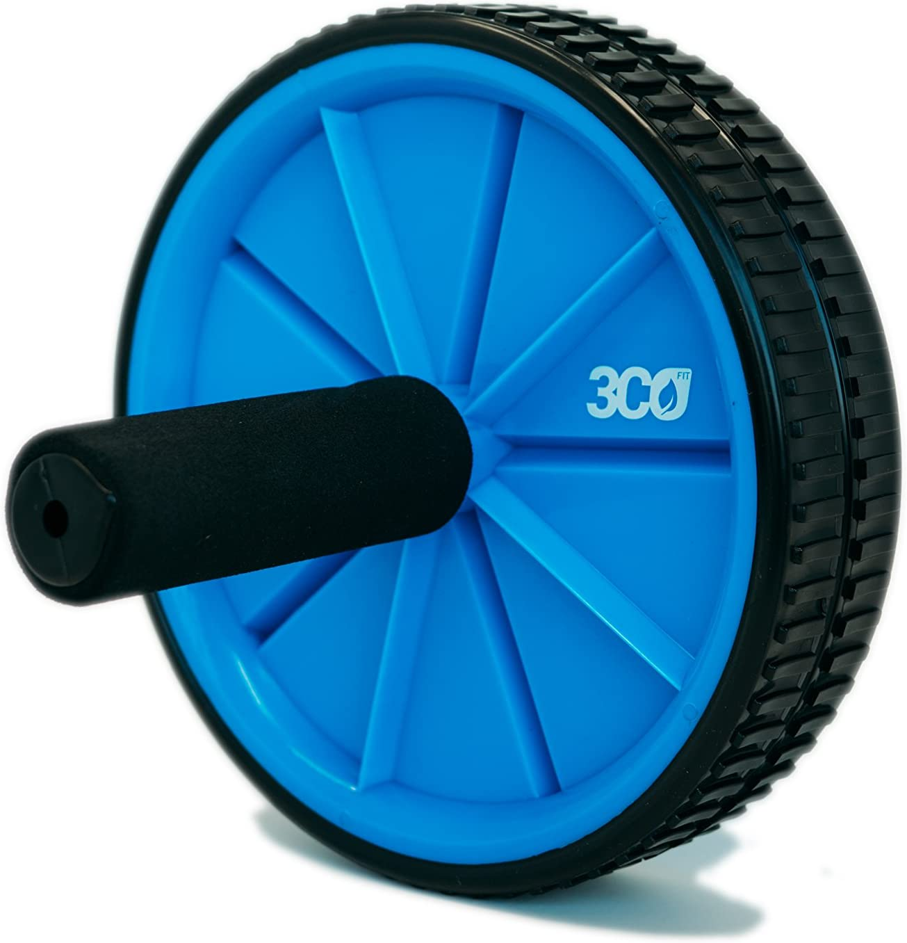 Abdominal /& Stomach Training Portable and Lightweight 3COFIT Ab Roller Wheel in Blue Color for Core Strength Perfect for Fitness Exercises