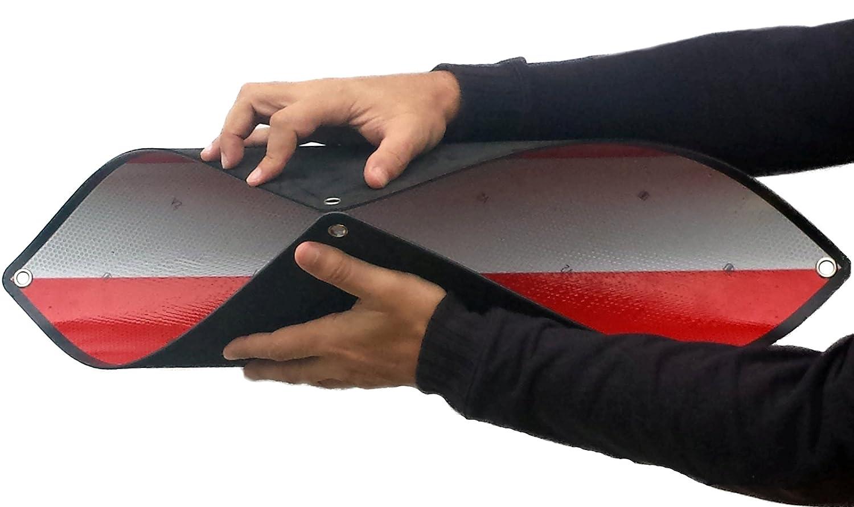 Magma Segnale V20 Omologato, Placca V20 Portabici e Carico Sporgente, Cartello V20 Plastica ABS Flessibile. Magma6®
