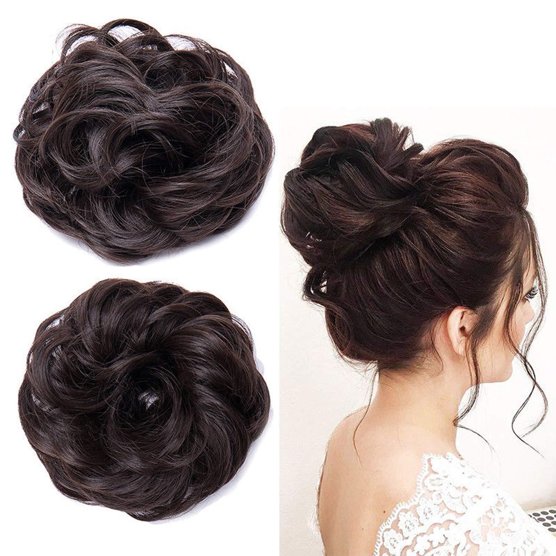 Inaaya Latest Arrival Juda Hair Bun Artificial Juda Extension, Set Of 2,  Black/Brown, 25 Gram, Pack Of 1