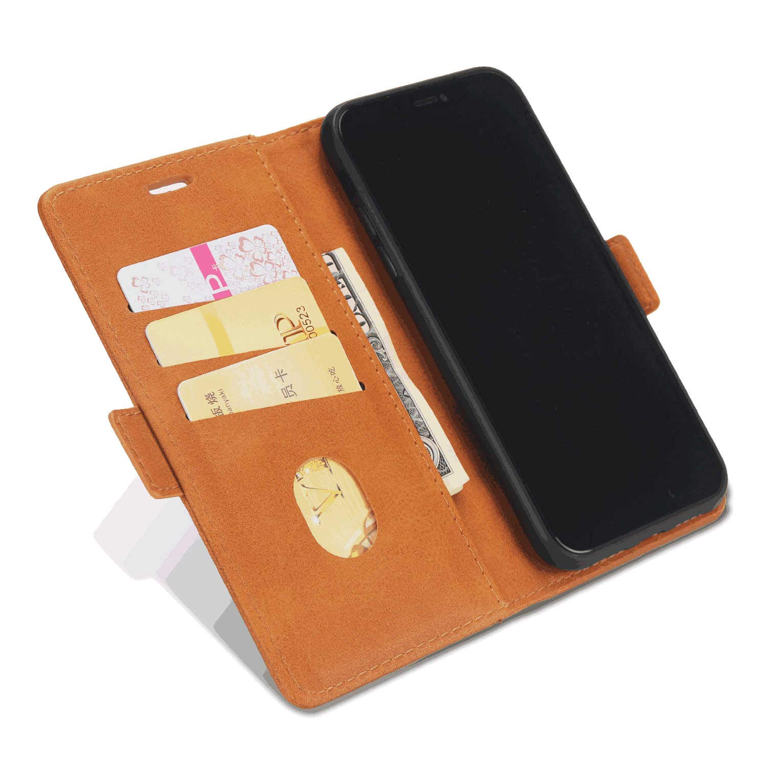 Cover for Huawei Mate 20 Leather Premium Business Kickstand Card Holders Wallet Cover with Free Waterproof-Bag White5 Huawei Mate 20 Flip Case