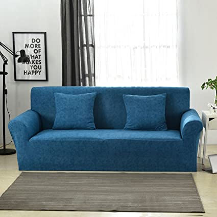 Terrific Sobibo Spandex Fabric Stretch Couch Cover Loveseat Slipcover For 2 Cushion Blue Lines Gmtry Best Dining Table And Chair Ideas Images Gmtryco