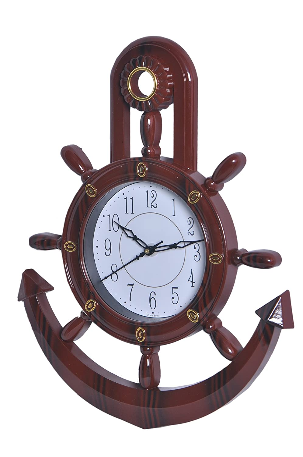 Anchor wall clock image collections home wall decoration ideas buy jaipurcrafts decorative retro anchor brown pendulum wall clock buy jaipurcrafts decorative retro anchor brown pendulum amipublicfo Images