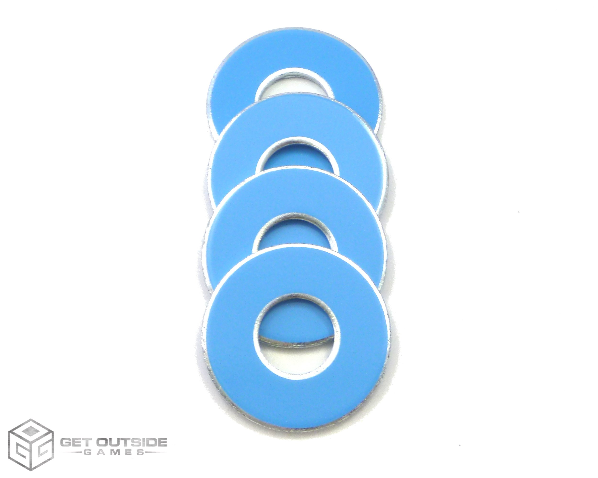 Get Outside Games 4 VVashers - Washer Toss/Washer Game Washers (Blue-Baby, 4 VVashers)