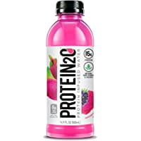 Protein2o 15g Whey Protein Infused Water, Dragon Fruit Blackberry, 16.9 oz Botte (Pack Of 12)