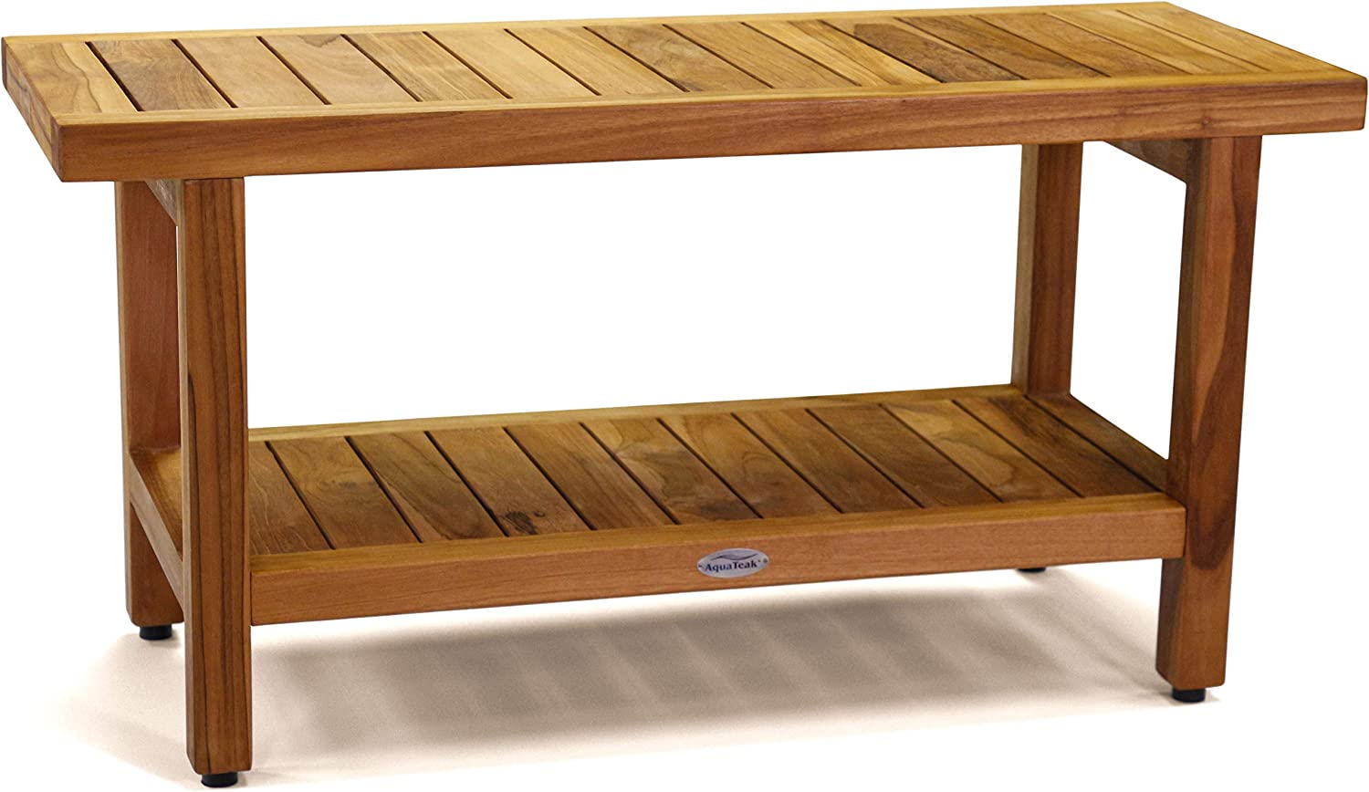 "AquaTeak The Original 36"" Spa Teak Shower Bench with Shelf 71bcvRS1SfL"